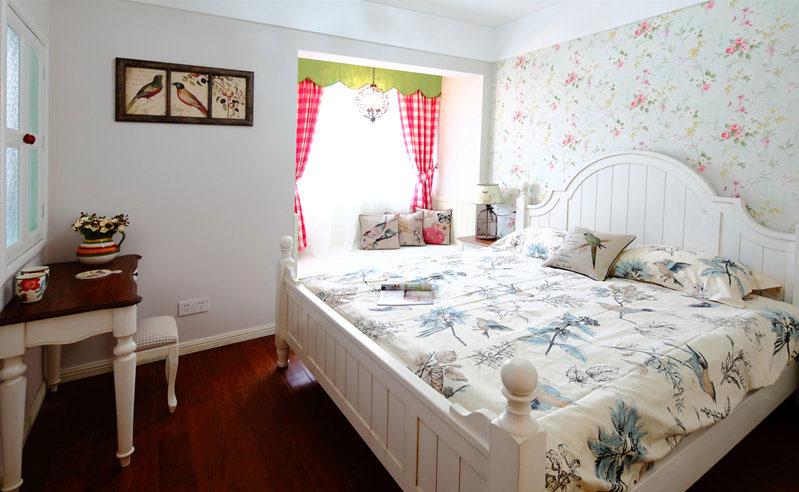 欧式田园风格主卧室装修效果图