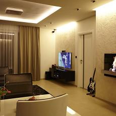 77平米现代小户型客厅装修效果图片欣赏