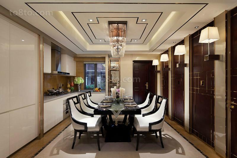 欧式现代风格餐厅吊顶装修效果图欣赏