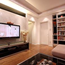 现代风格客厅瓷砖电视背景墙装修效果图