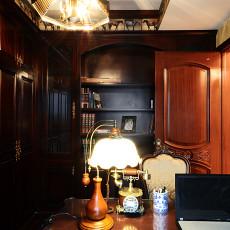 美式新古典风格书房台灯效果图