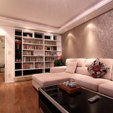 现代风格客厅木地板装修效果图2014