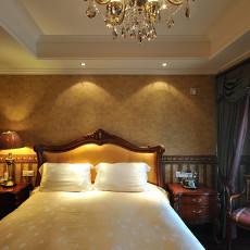 美式新古典风格卧室墙纸效果图