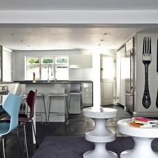 中西混搭风格开放式厨房装修效果图