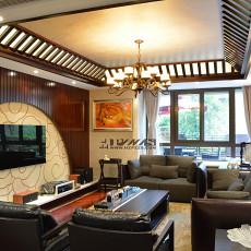 面积129平中式四居客厅装修设计效果图片大全