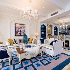 复式客厅地中海装修设计效果图片欣赏