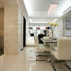 现代风格餐厅大理石墙面装修效果图