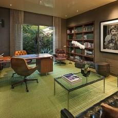 现代简约风格别墅书房装修效果图