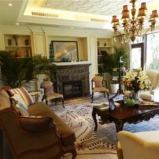 欧式风格别墅客厅装饰壁炉效果图