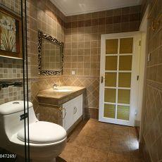 现代美式风格卫生间马赛克墙面装修效果图