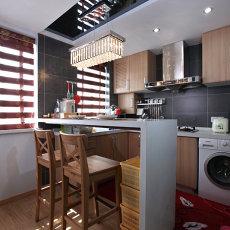 现代风格厨房吧台吊顶装修效果图