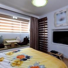 现代风格30平米小户型卧室电视墙装修效果图