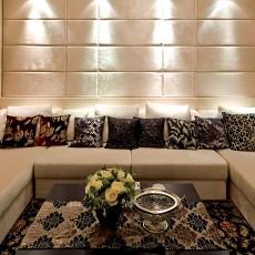 2018124平米欧式别墅客厅装修设计效果图片大全