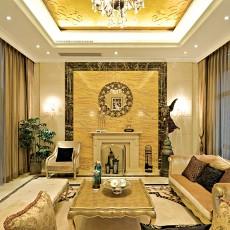 116平米欧式别墅客厅装饰图片大全