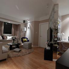 热门80平米现代小户型客厅实景图片