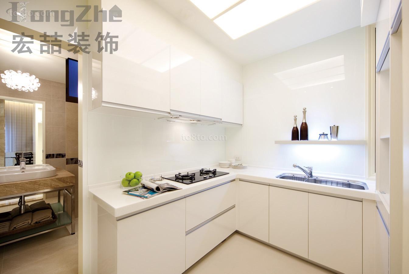 极简主义厨房装修效果图欣赏
