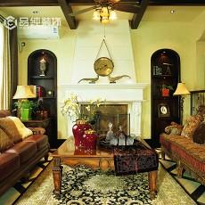 英式乡村风格客厅装修效果图欣赏