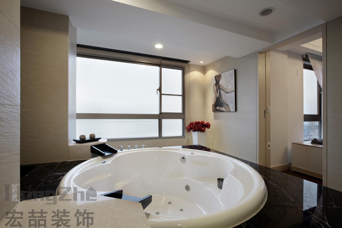 家用圆形嵌入式浴缸图片