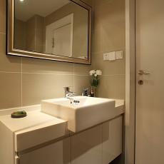 极简主义卫生间洗手台效果图