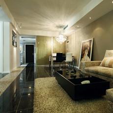现代长方形客厅装修效果图