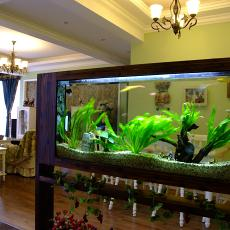 室内大型鱼缸造景图片