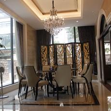 别墅现代欧式餐厅装修效果图
