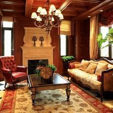 美式豪华别墅客厅装修效果图