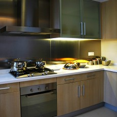 简约家庭厨房灶台装修效果图
