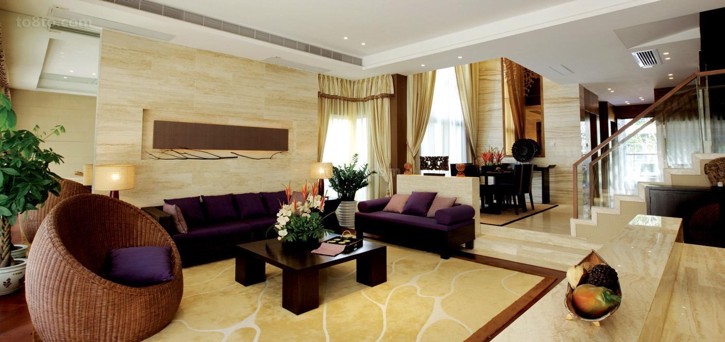 时尚混搭风格复式客厅装修效果图
