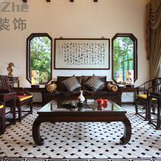 2018面积117平别墅客厅中式装饰图片欣赏