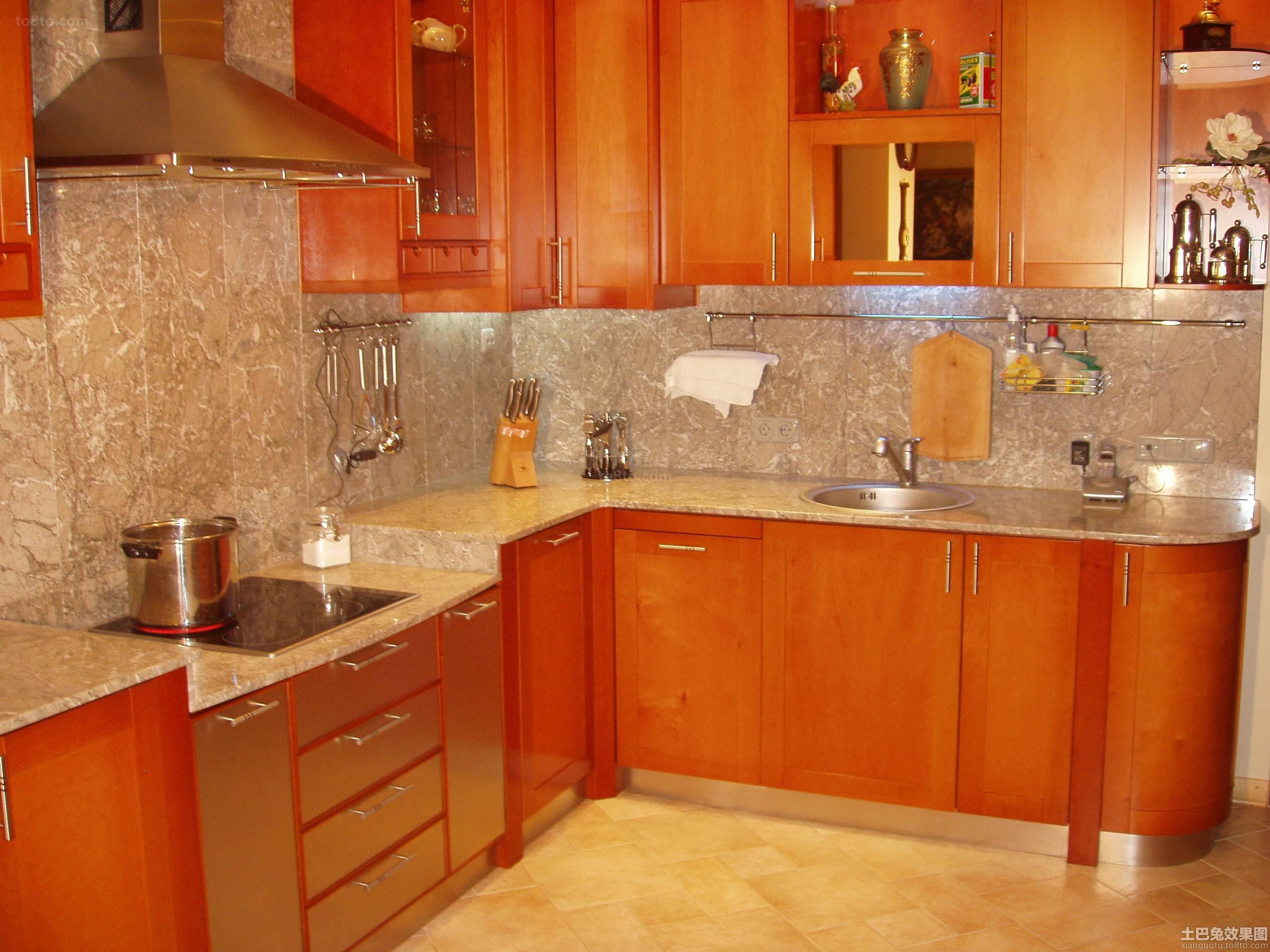 美式实木橱柜厨房设计