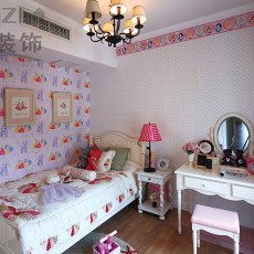 粉色儿童房间装修效果图