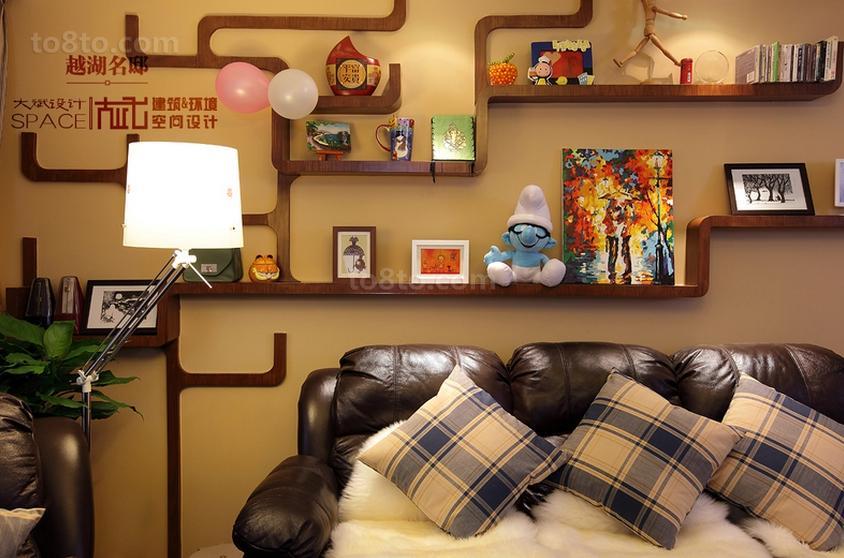 卧室墙上置物架_客厅墙上置物架效果图-土巴兔装修效果图