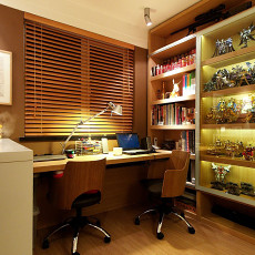 现代风书房装修效果图大全2014图片