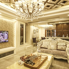 奢华欧式风格客厅装饰效果图