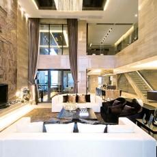 热门面积112平复式客厅现代装饰图