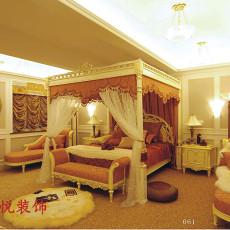热门126平米欧式别墅卧室装饰图片大全