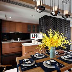 新中式风格餐装修厅效果图大全