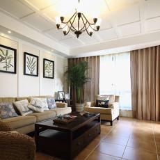 简美式风格客厅装修效果图