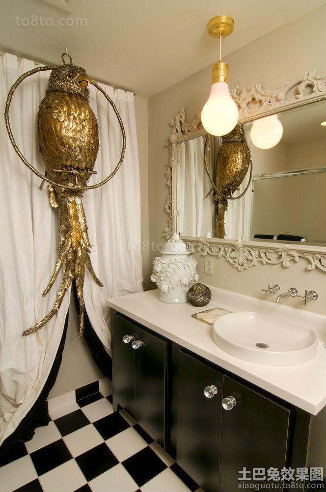 巴洛克风格装修卫生间图片