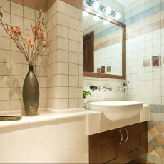 简东南亚风格卫生间洗手台装修效果图