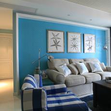 地中海风格客厅装修效果图2014