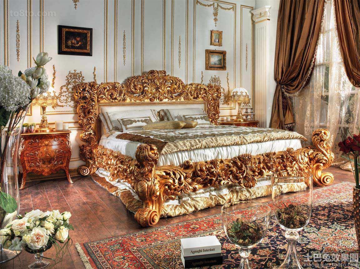 巴洛克风格卧室家具图片