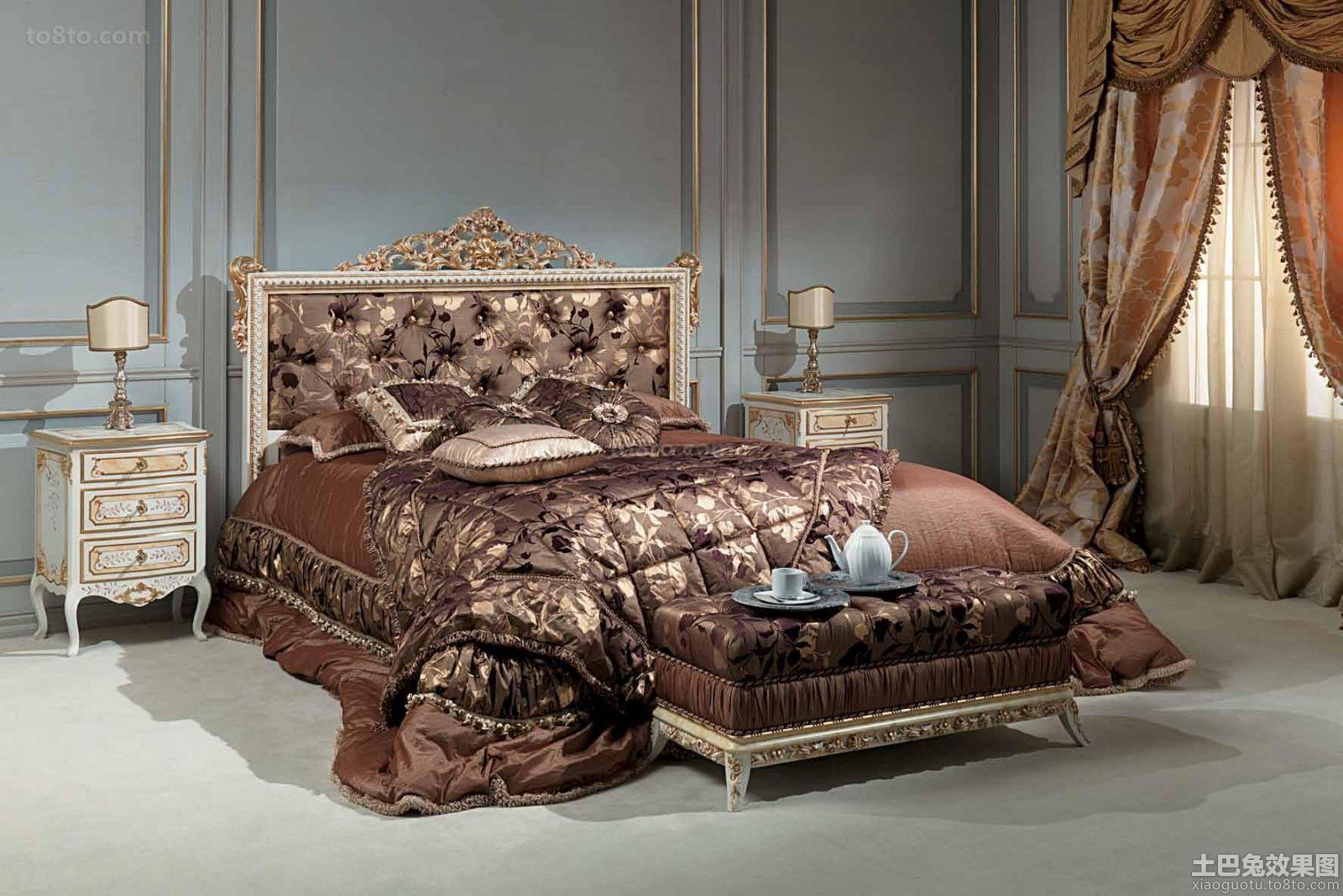 卧室巴洛克风格家具图片