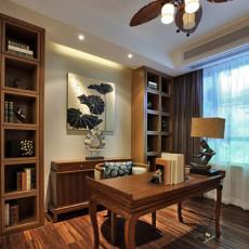 精美面积91平东南亚三居书房装修设计效果图