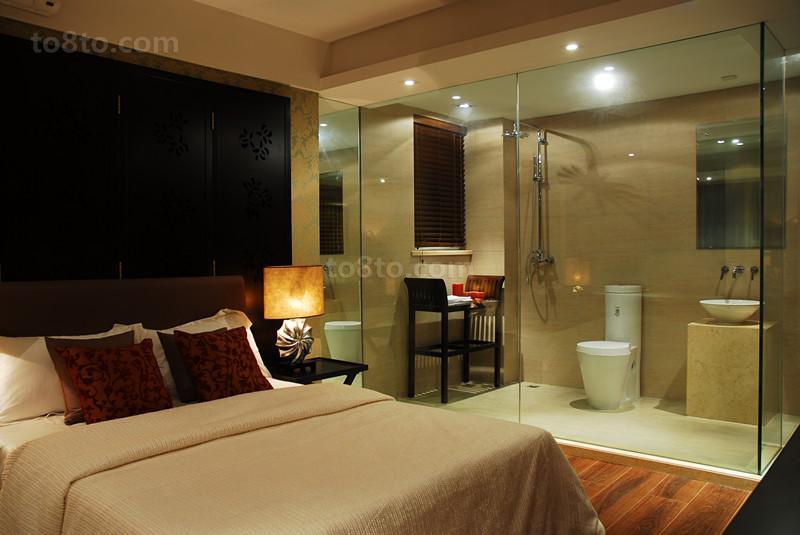 现代家装主卧室装修效果图