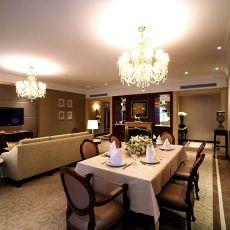欧式古典客厅餐厅装修效果图
