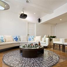 83平米二居客厅简约装修图