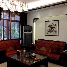 现代中式家装客厅装修效果图