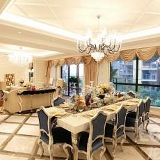面积93平欧式三居餐厅装修图片欣赏
